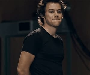 gif, Harry Styles, and behind the album image