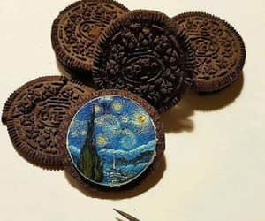 art, van gogh, and oreo image