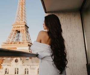 girl, brunette, and france image