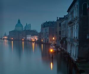 venice, night, and city image