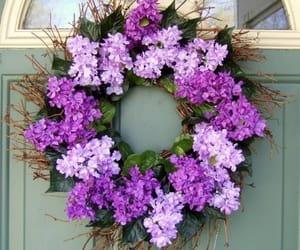 blue, plants, and bouquet image