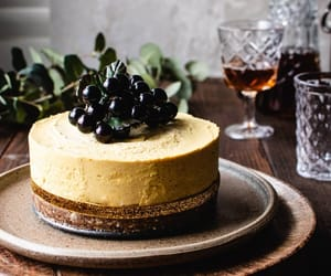 artisan, blueberries, and cheesecake image