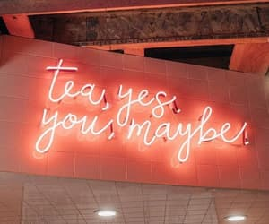 neon, tea, and light image