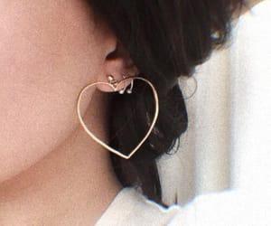 earrings, girl, and heart image