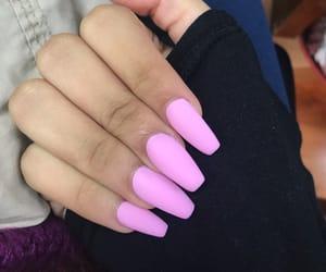 nails, pink, and tips image