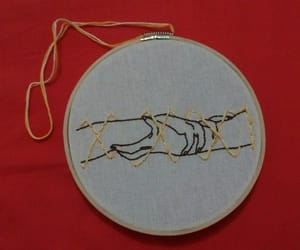 embroidered, embroidery, and harry potter image