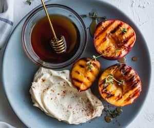 honey, peaches, and mascarpone image