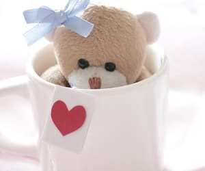 cute, teddy bear, and cup image