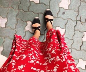 floral skirt, espadrilles, and gp & j baker image