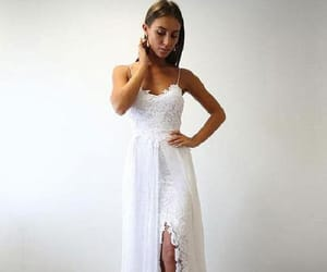 prom dresses, wedding dress, and prom dress white image
