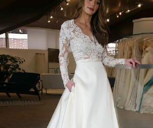 wedding dresses, ivory wedding dresses, and long wedding dresses image
