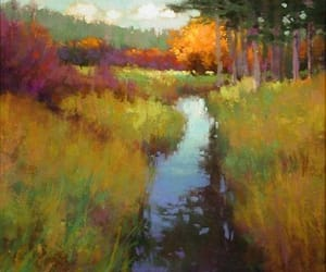 landscape, paintings, and art image