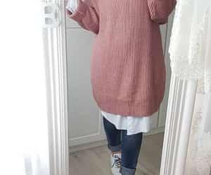 Blanc, denim, and hijab image