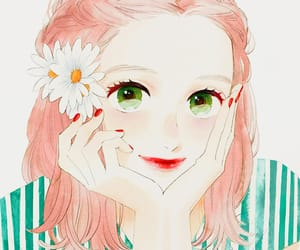 anime, edit, and flowers image
