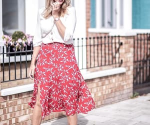floral skirt, H&M, and gp & j baker image