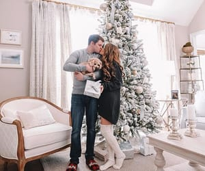christmas, couple, and cozy image