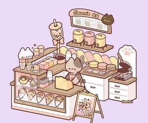 artist, cat, and bubble tea image