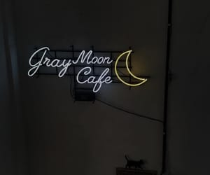 cafe and neon light image