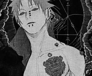anime, black&white, and art image