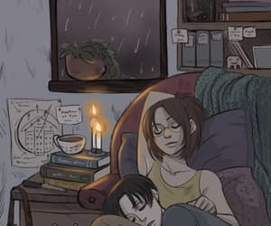 anime, candles, and romance image