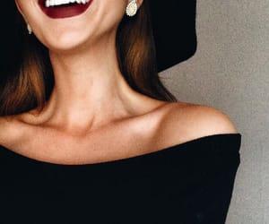 girl, fashion, and lipstick image