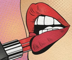 lipstick, lips, and art image