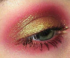 makeup, glitter, and beauty image