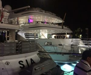 bateau, luxe, and nuit image