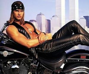 badass, biker, and leather pants image