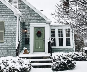 house, winter season, and snow image