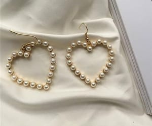 fashion, earrings, and pearls image