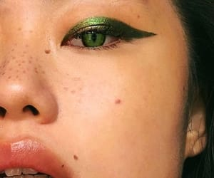 aesthetic, freckles, and green image