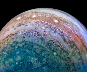 "humanoidhistory:""Planet Jupiter, observed by NASA's Juno probe on December 16, 2017. Processing by David Marriott."""