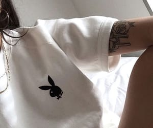 girl, Playboy, and tattoo image