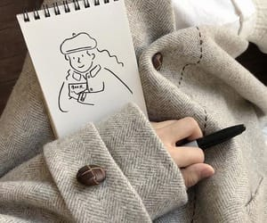 art, draw, and autumn image