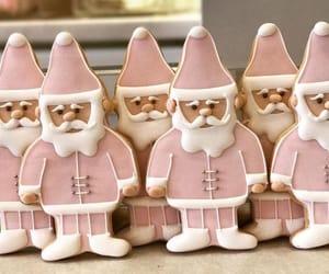 christmas, santa, and pink image