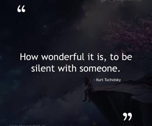 quotes, silent, and someone image