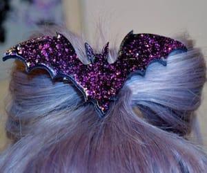 bat, hair, and purple image