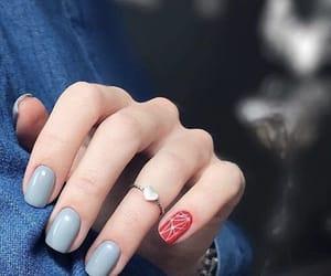 grey, nailsart, and nails image