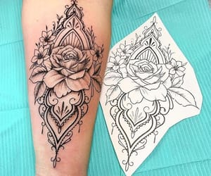 art, tattooed, and tattoolove image