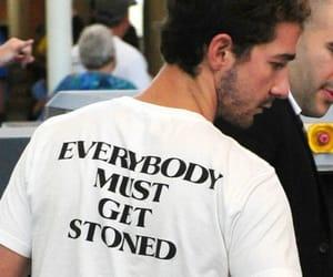 shia labeouf, stoned, and shirt image