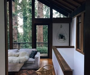 home, house, and forest image
