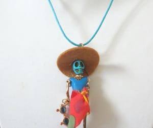 dia de los muertos, sugar skull necklace, and day dead jewelry image
