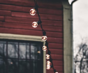 lights, autumn, and house image
