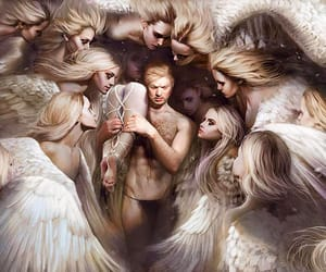 2d, angels, and art image
