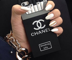chanel, nails, and black image