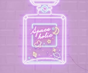 neon, perfume, and purple image