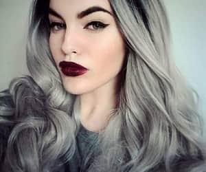 grey, hair, and woman image