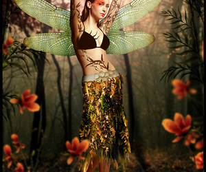 dragonfly, make up, and fairy image