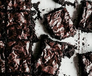 background, brownies, and chocolate image